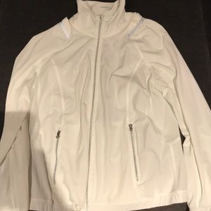 New without tags Lululemon white running jacket